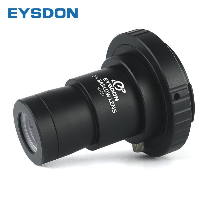 """Binocolo del telescopio Eysdon 5x Barlow Lens 1.25 """"Metallo Apprendonti focali completamente rivestiti con m42 Telecamera T2 T Adattatore anello per Pografia"""
