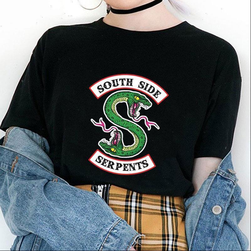 Frauen Tops Riverdale T-shirt Sommer Harajuku Südseite Schlangen Weibliche Schlange Gedruckt Lustige Vintage Tees