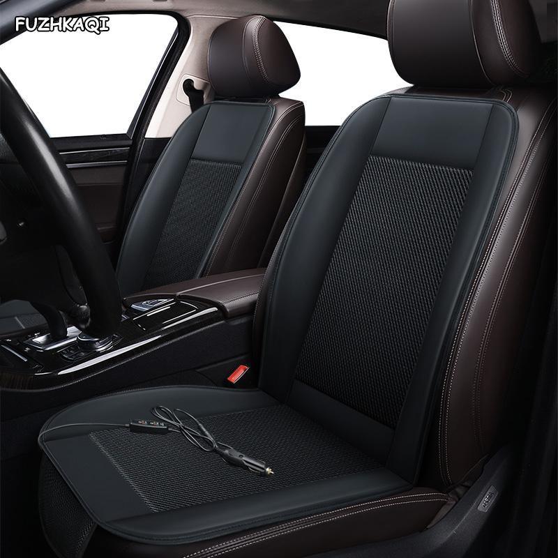 Autositzbezüge Fuzhkaqi 12-V-Belüftung 1PC-Abdeckung für GEELY ALLE Modell EMGRAND X7 EC7 EC9 EC8 Sommer Pad Kissen