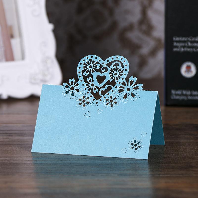 40pcs 레이저 컷 사랑 테이블 이름 장소 카드 웨딩 장식 파티 호의 진주 종이 테이블 장소 카드 웨딩 용품 1294 V2