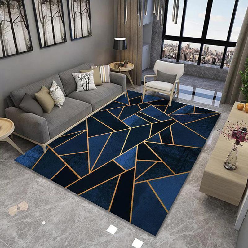 Tapis de style européen de haute qualité art géométrie tapis pour salon chambre antidérapante tapis de cuisine