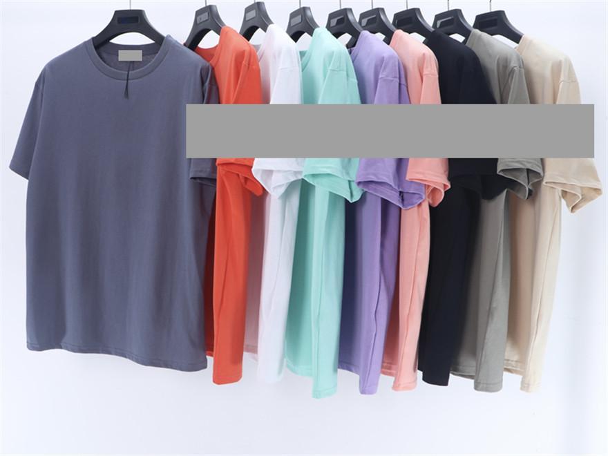 العلامة التجارية المصممة S620 الصيف الأزياء الكلاسيكية الرجال تي شيرت 9 اللون عارضة الرجال قصيرة الأكمام تي شيرت M-2XL 2021 جودة عالية
