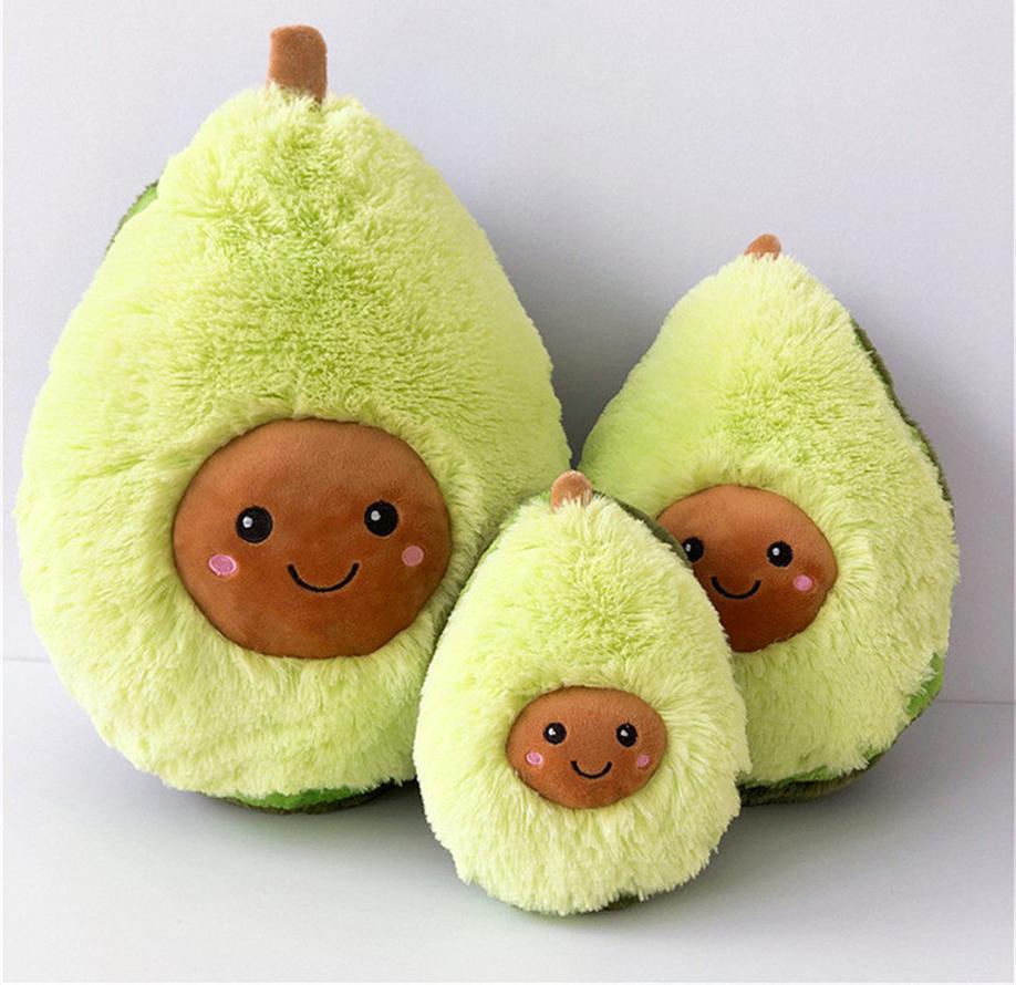 2021 20/30 / 40 cm Karikatür Sevimli Meyve Avokado Dolması Peluş Bebek Oyuncak Avokado Yastık Yastık Çocuk Hediye 496