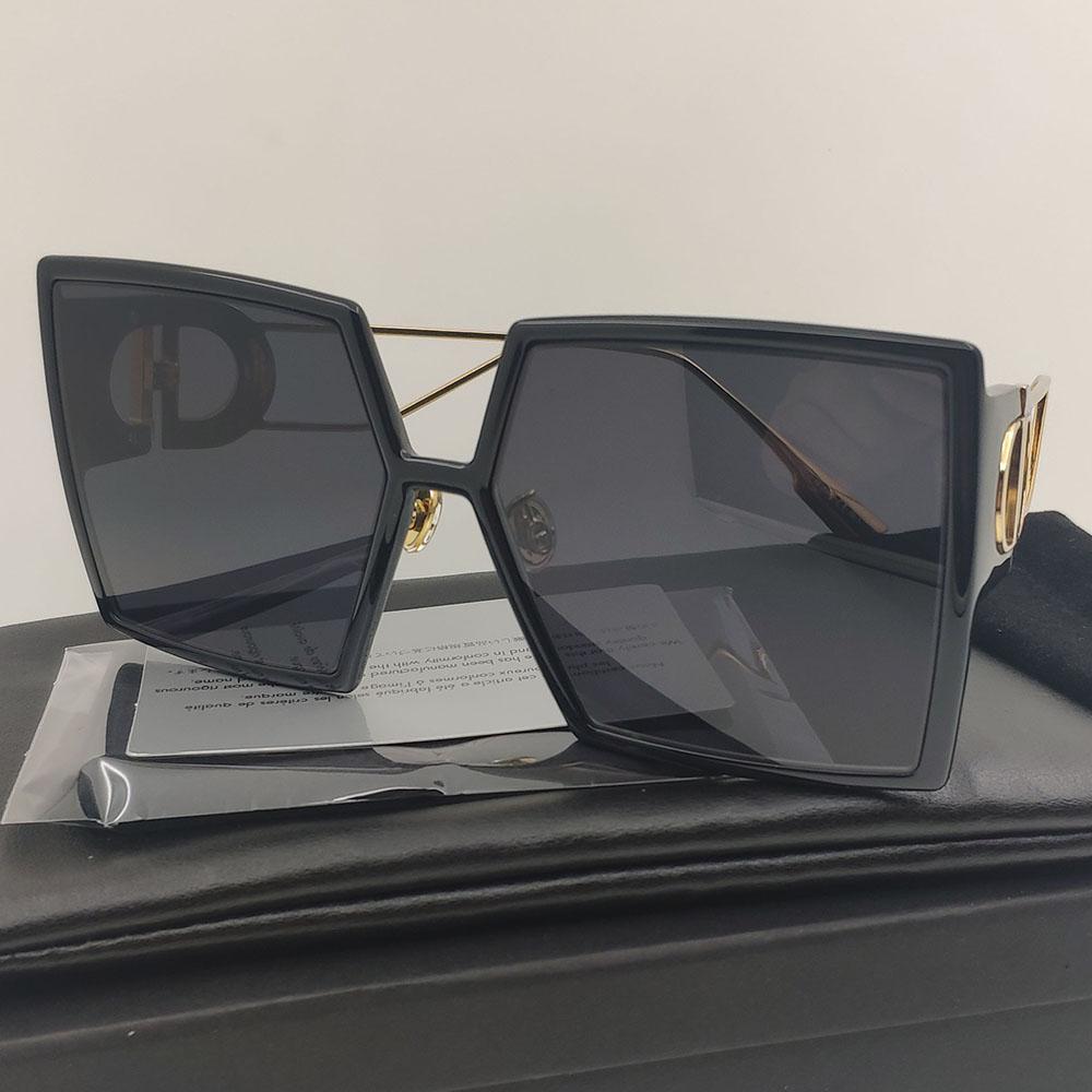 2020 Montaigne Sunglasses de sol de las mujeres coloreado de color negro cuadrado gafas de sol mujeres futurista retro moda gafas de sol rectangular hombres 30montaigne escudo gafas de sol
