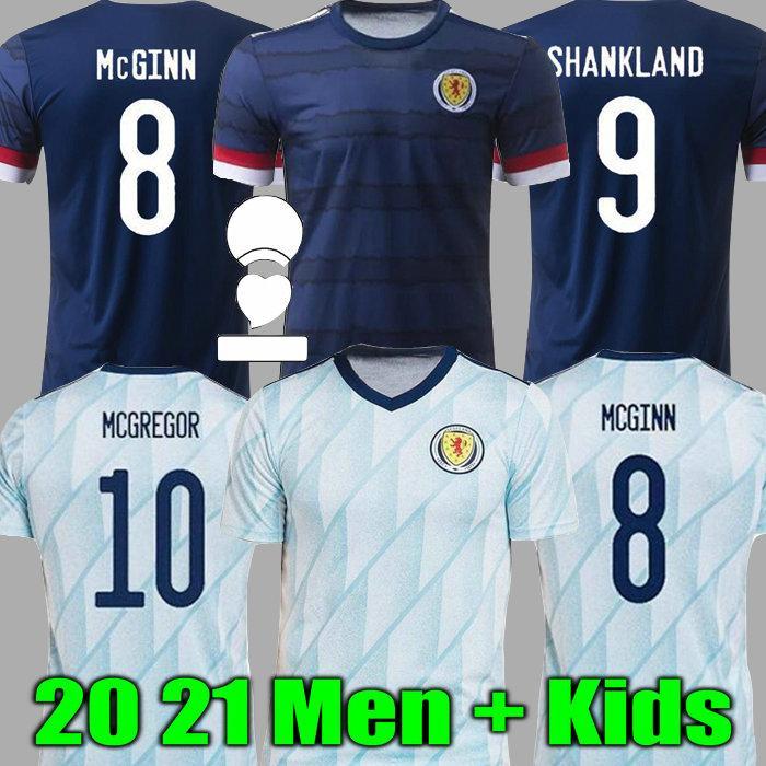 스코틀랜드 축구 유니폼 홈 2021 멀리 Robertson McGregor Fraser 축구 셔츠 Naismith Christie Forrest McGinn 남자 아이들.