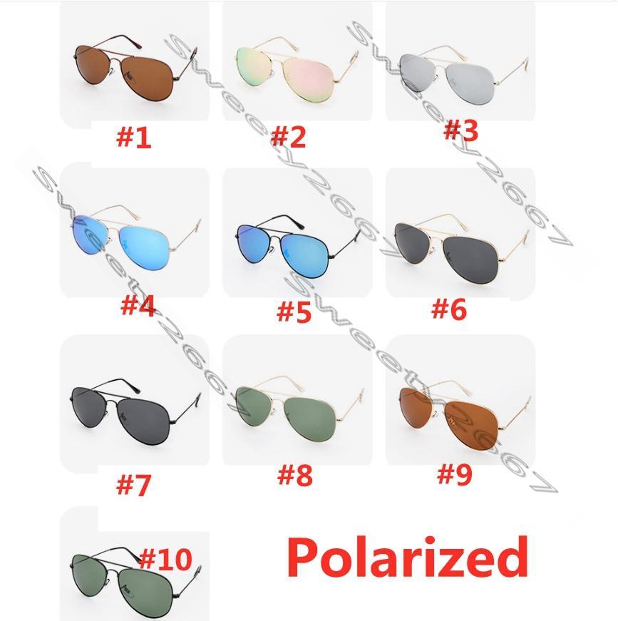 أزياء بيع فاخر مصمم الاستقطاب طيار راي نظارات شمسية خمر الطيار نظارات الشمس الفرقة مرايع uv400 حظر الرجال النساء بن ويفارر النظارات الشمسية