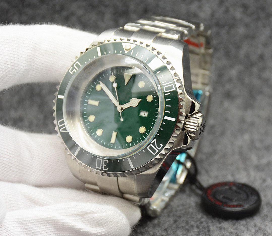 Erkekler otomatik mekanik saat, 55mm çap, 19mm kalınlığında, safir cam, klasik renk, yüksek kaliteli moda için ilk tercih