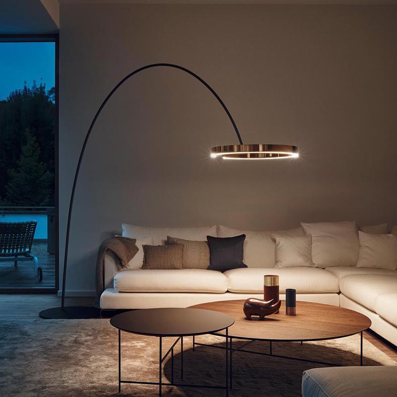 큰 LED 플로어 램프 est 빛 스탠드 집 원격 제어 골드 로즈 램프