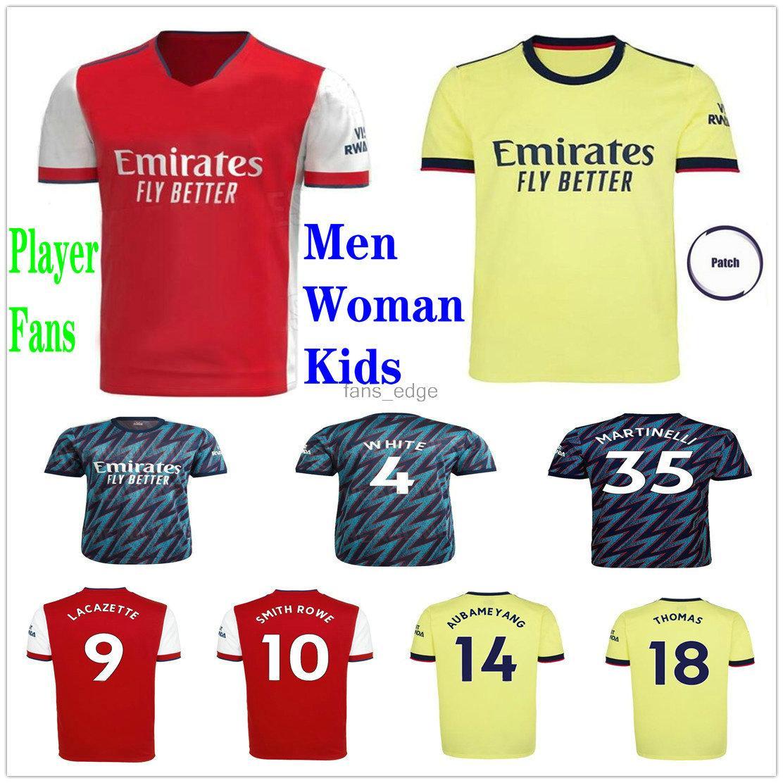 Arsen 21 22 Gunners Futbol Formaları 2021 2022 Pepe Nicolas Cebeballos Guendouzi Smith Rowe Tavares Tierney Odegaard Saka Thomas Özel Erkekler Kadın Çocuklar Futbol Gömlek