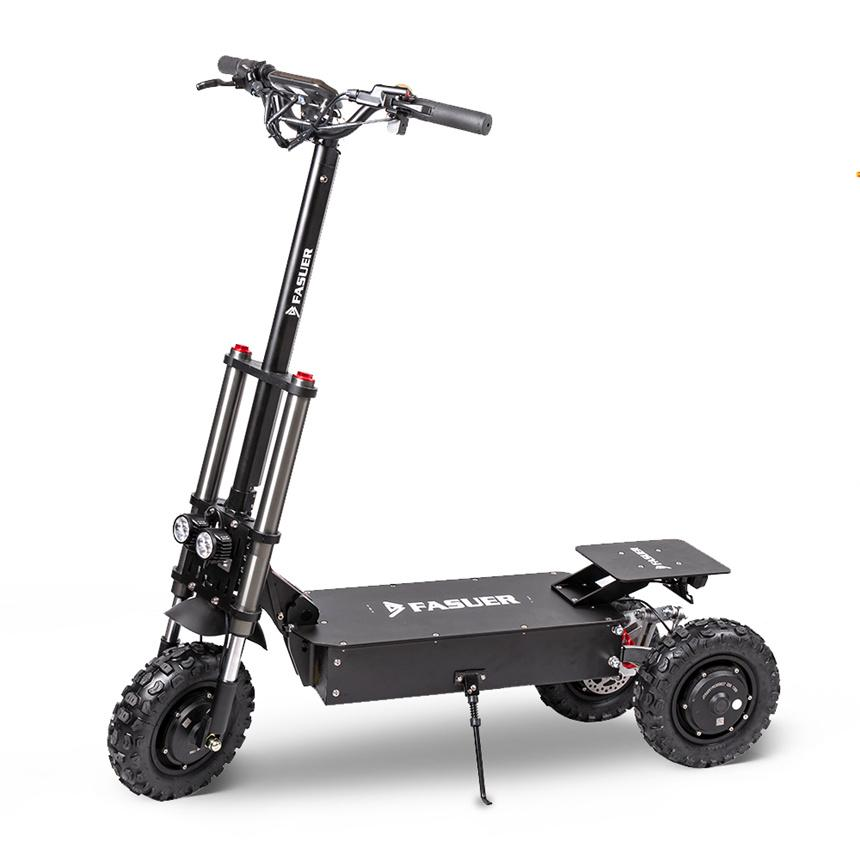 Adult Off Road Electric Scooter 3 Motor Three-Wheel Foldable EScooter 11 inch Tire 75KM/H Max Speed Kick