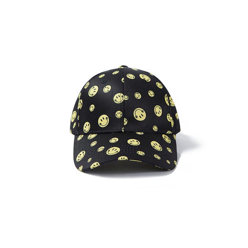 Inf merito di agire il ruolo del logo popolare giallo faccina faccina faccia cappuccio femmina giapponese strada interessante temperamento tavola da baseball berretto da baseball