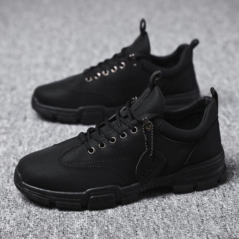 Autunno 2020 Nuovi stivaletti da uomo traspirante a bassa cuoio scarpe da uomo Versatile retrò casual sneakers estivi Martin stivaletti