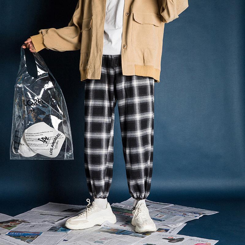 Pantalones casuales de tendencia a cuadros de Perth para hombres y mujeres