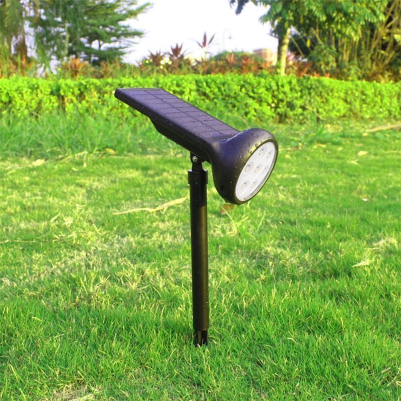 태양 잔디 조명, 야외 조명 다채로운 LED Courtyard Villas 홈 플러그인 스포트 라이트 램프
