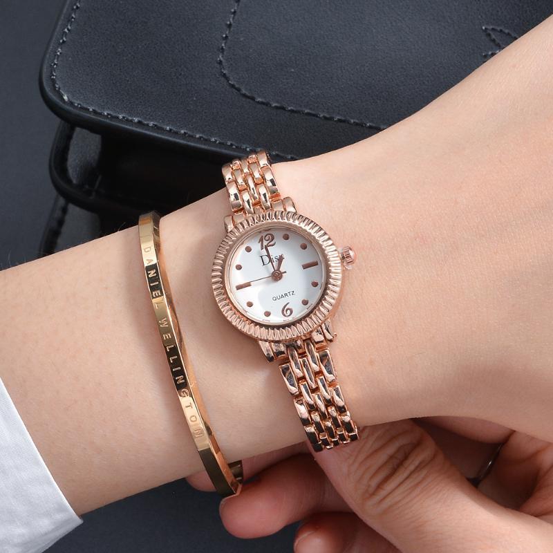 Mode Kleines Zifferblatt Frauen Uhren Rose Gold Edelstahl Quarz Armbanduhr Casual Damen Kleid Relogio Feminino Uhr Armbanduhren