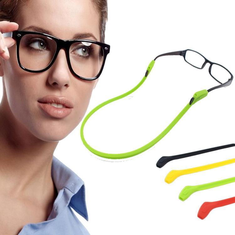 Occhiali in silicone Catena Sport Immersioni Immersioni Impermeabile Sport Sport Eyeglasses Occhiali da sole Occhiali da sole Supporto per cavi Bambini Accessori per occhiali adulti Adulti WLL655