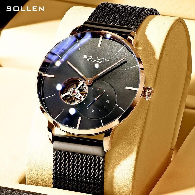 Sollen Solon Watch Men's Mechanical Automatic Movement Hollowed Out Fashion Concept Customized Wristwatches