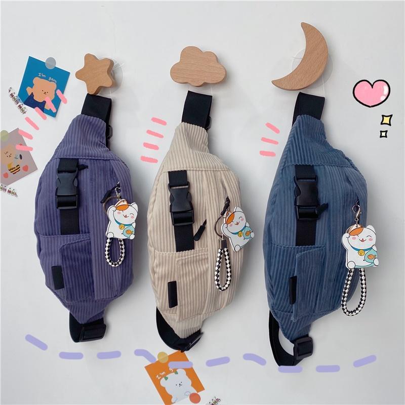 Sacchetto del petto Giapponese Messenger Casual Should Studente Studente Zaino in velluto Zaino da donna Borsa da donna Piccola borsa
