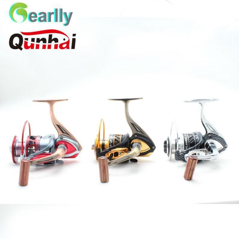 BAITCASTING Rollen Drei Farben Gearlly Qunhai Marke 11 + 1 BB Lager HLA3000-6000 5.1: 1Series Spinnen Saltwater Angelrolle