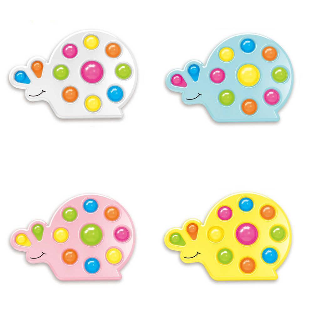 Dedo Diversión Burbujas Popper Fidget Push Pop Toys Snail Forma Dibujos animados Poppers Tablero Dedo Diversión Puzzle Juego Niños Estrés Alivio Relajación Desktop Gifts G68F6U4