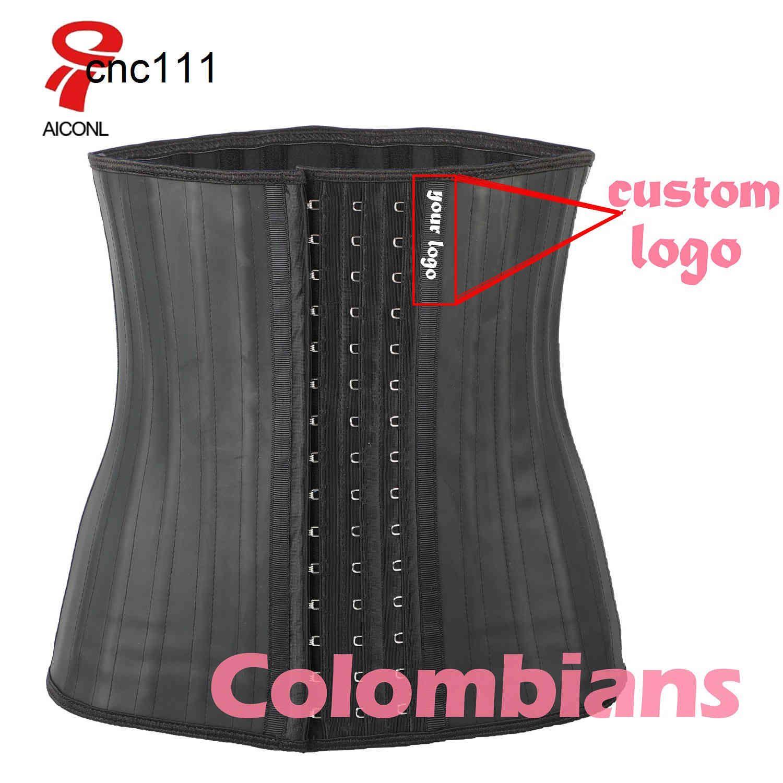Aiconl Latex Trainer Corset Belly Plus Slim Belt Shaper Modeling Strap Body Ficelle Waist Cincher fajas colombianas{category}A5T1