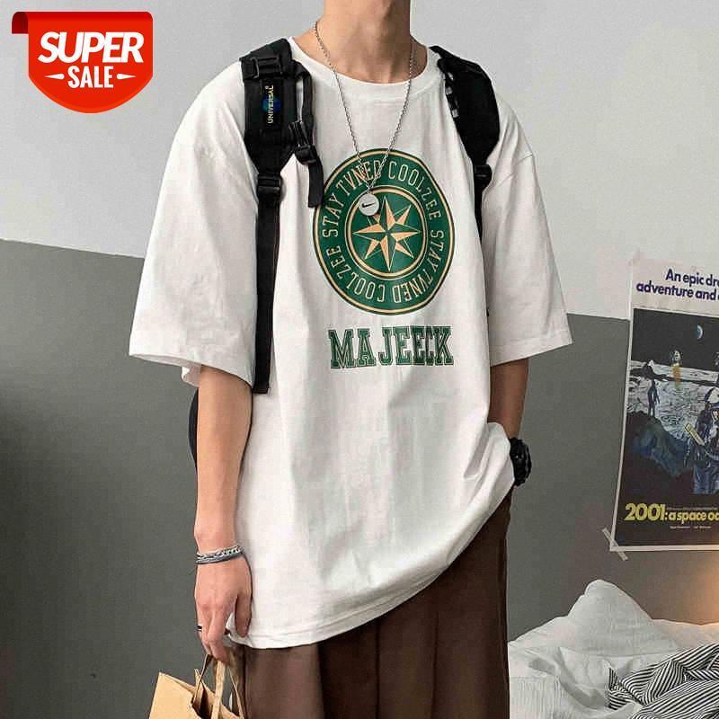 T-shirt à manches courtes Menu Marée Brand Tendance Couple Couple Vêtements Demi-manches Holf à manches européennes et américaines Chemise de fond en vrac Top Top Inc # 162k