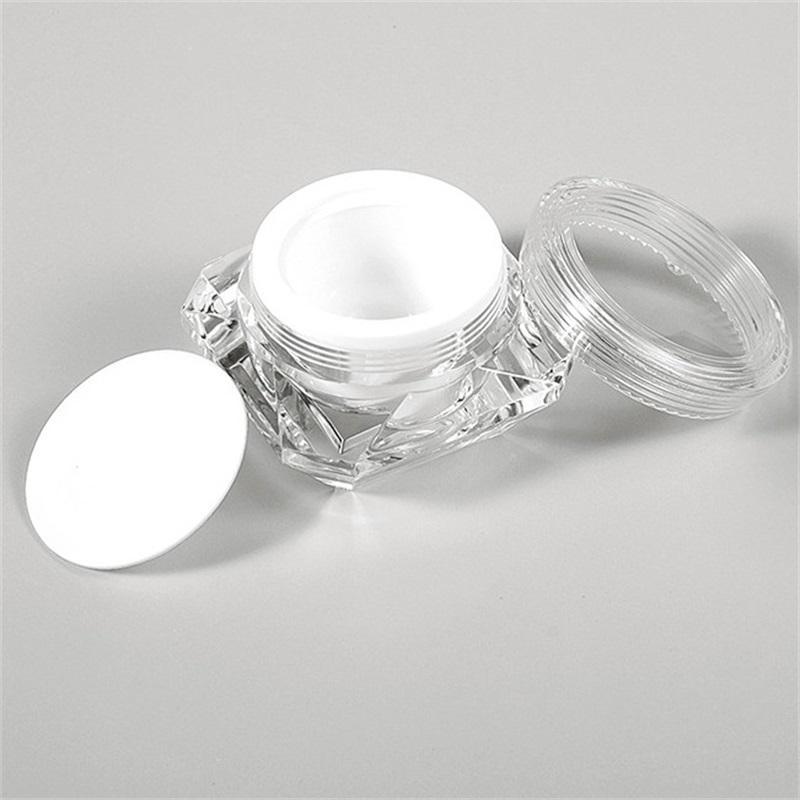 15G Elmas Tarzı Pot Akrilik Kozmetik Boş Kavanoz Göz Farı Makyaj Yüz Kremi Dudak Balsamı Konteyner Şişe Örnek Ambalaj 527 R2