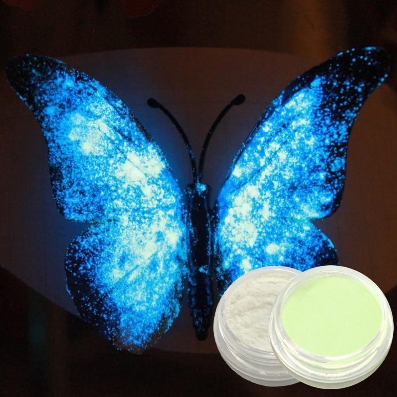 Nagelglitter 1g Fluoreszenz Neon Leuchtstoff Pigment Pulver Winter Leuchtende Maniküre Dekor Staubkunst Glühen in Dunkelheit