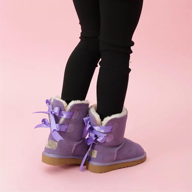 أطفال بيلي 2 الانحناء الأحذية الأسترالية الشتاء الأطفال الطفل الدافئة الطلاب في سن المراهقة الثلوج عيد الميلاد أحذية الكاحل حجم 21-35