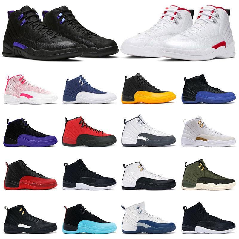 air retro jordan 12 망 농구 실행 신발 12s 트위스트 아이스크림 다크 콩코드 인디고 게임 로얄 대학교 골드 여자 운동화 5.5-13