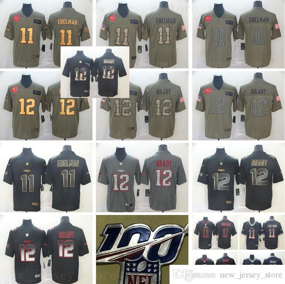 Stitched 100 StitchedNewenglandPatriotFOotball Jerseys 12 TomBrady 11 Julianedelman 87 Robgronkowski Mens 100 aniversario parche