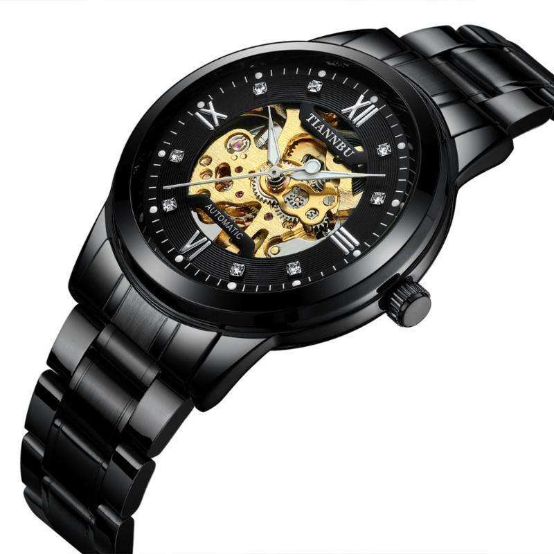 Armbanduhren verkaufen Männer Mechanische Automatische Sport Skeleton Wasserdichte Uhr Uhren Marke Männlich Relogio Masculino 2021