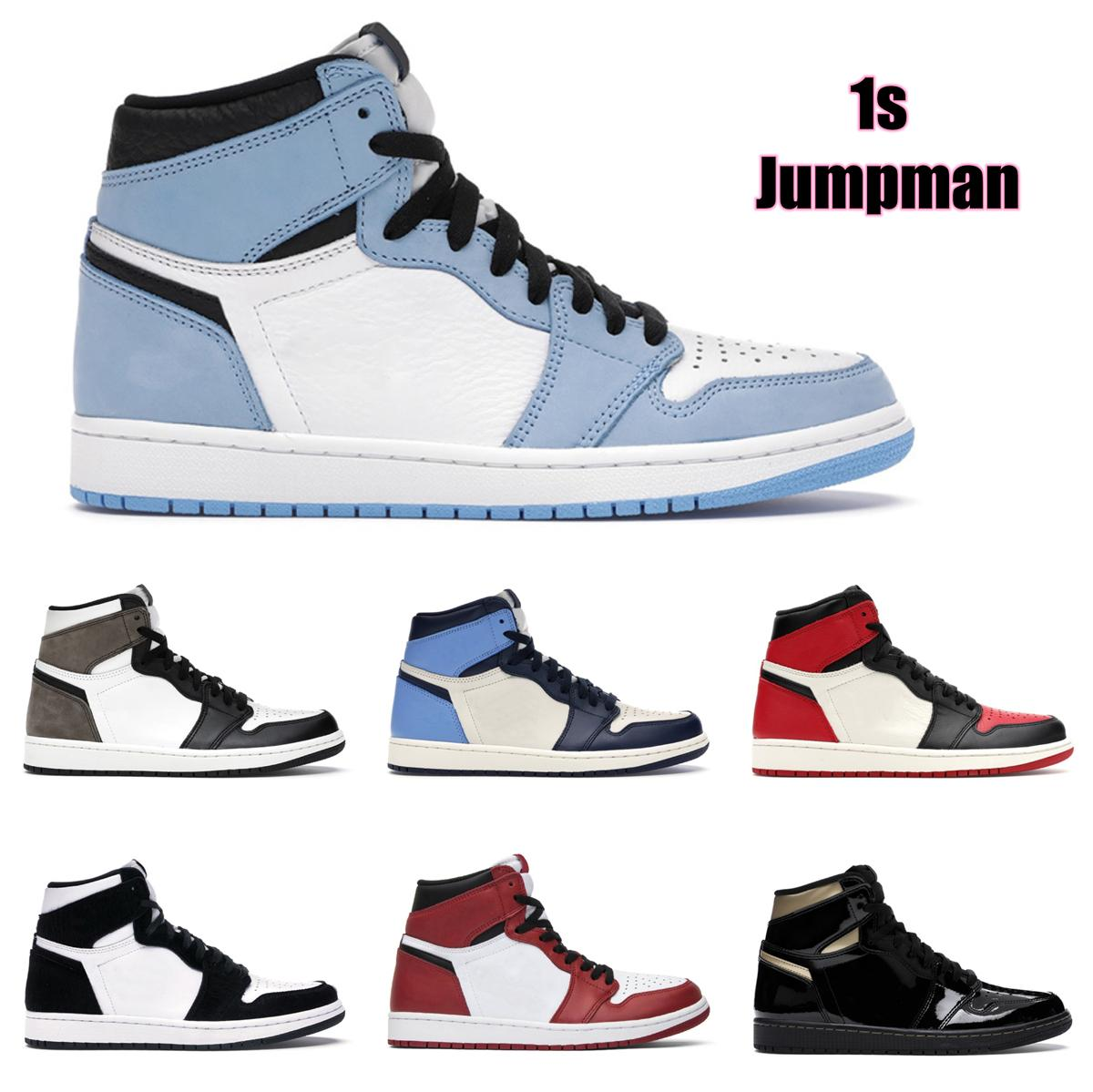 أعلى جودة jumpman 1 ثانية هايت قص الخوف من سبج حذاء الرجال النسائية أحذية كرة السلة المحظورة bed تو شيكاغو بوي فتاة aj1 airforceone