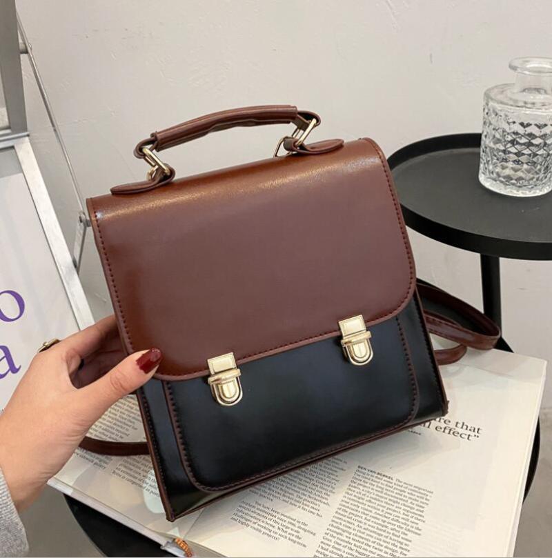 영국 대학 스타일 작은 사각형 가방 패션 레이디 어깨 클래식 레트로 메신저 대용량 핸드백 가방