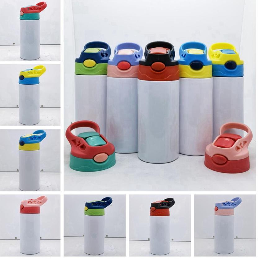 12 أوقية مستقيم سيبي كوب فارغة التسامي بهلوان الأطفال زجاجة المياه 350 ملليلتر المحمولة الفولاذ المقاوم للصدأ شرب البهلوان للأطفال CYZ3050