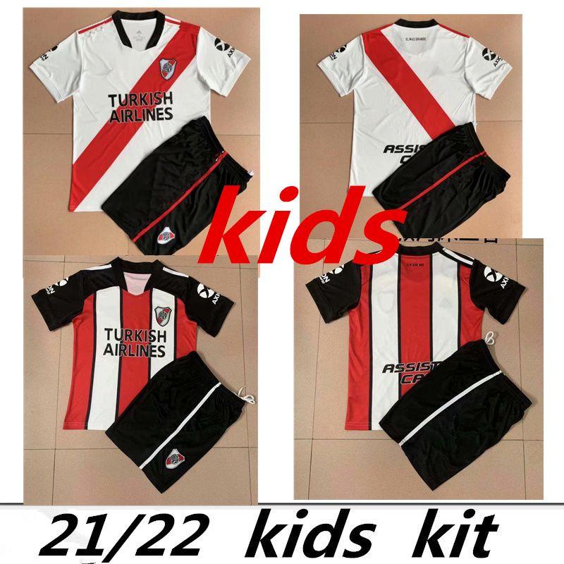 Kit Kit Home 2021 2022 River Plate Soccer Jersey Home 21 Pratto Fernández Scocco Palacios Libertadores Camisetas de Fútbol Quintero