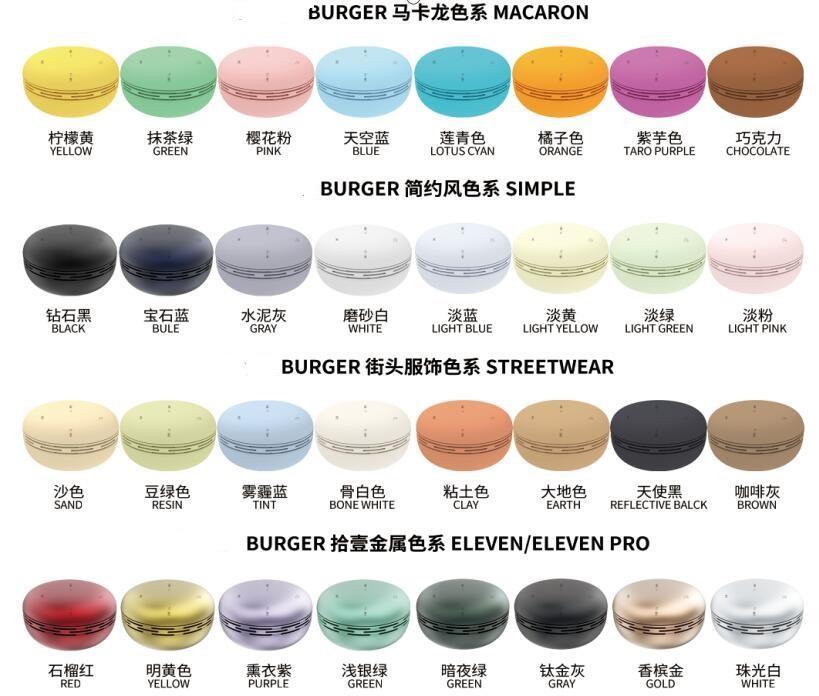 32 Renkler Açık Piknik Mini Taşınabilir Kablosuz Hoparlör Macaro Kek Tasarım TWS Bluetooth 5.0 Burger cep telefonu için mevcut hediye