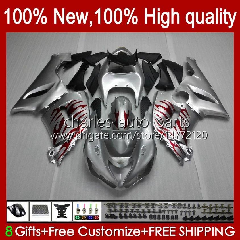 Moto Body for Kawasaki Red Flames Ninja OEM ZX600C ZX636 ZX 6R 6 R 600CC 05-06 BodyWorks 7NO.11 ZX600 ZX 636 ZX-6R 2005 2006 ZX-600 ZX-636 600 CC ZX6R 05 06 ABS FAIRING KIT