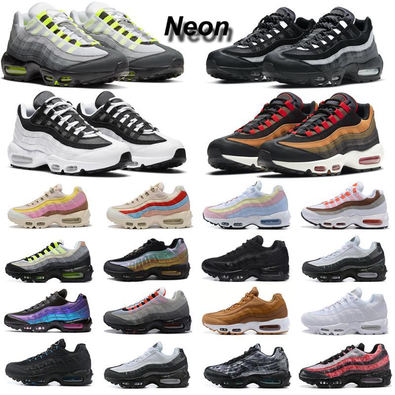 nike air max 95 حذاء الجري 95s نيون في جميع أنحاء العالم يين يانغ حزمة أحذية رياضية للرجال والنساء في الهواء الطلق أحذية رياضية للمشي والركض