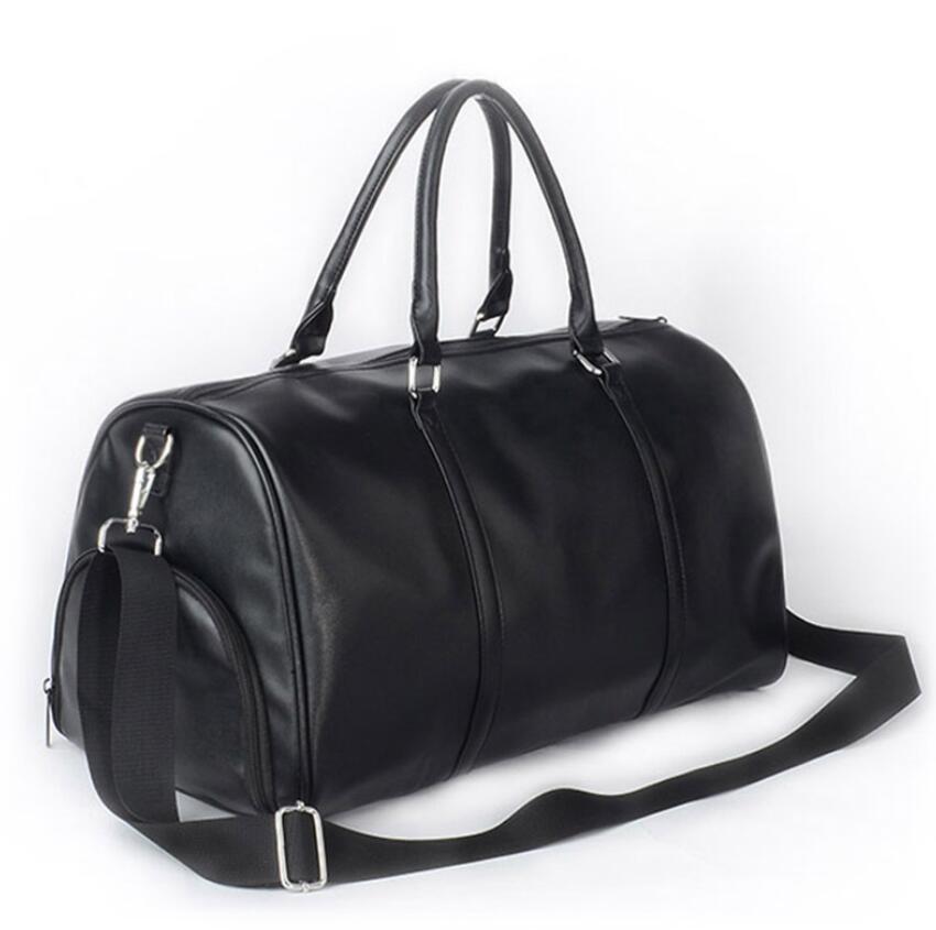 50 55cm 가방 야외 팩 더플 정품 가죽 여성과 남성 여행 가방 더플 수하물