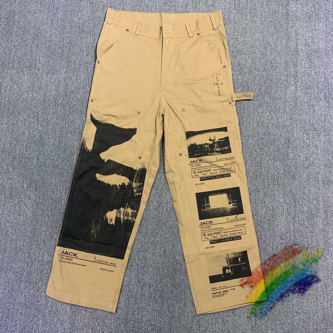 Erkek Pantolon Travis Scott Kaktüs Jack Kargo Çalışma Erkekler Kadınlar Yüksek Kalite Joggers İpli Sweatpants Pantolon HHpe