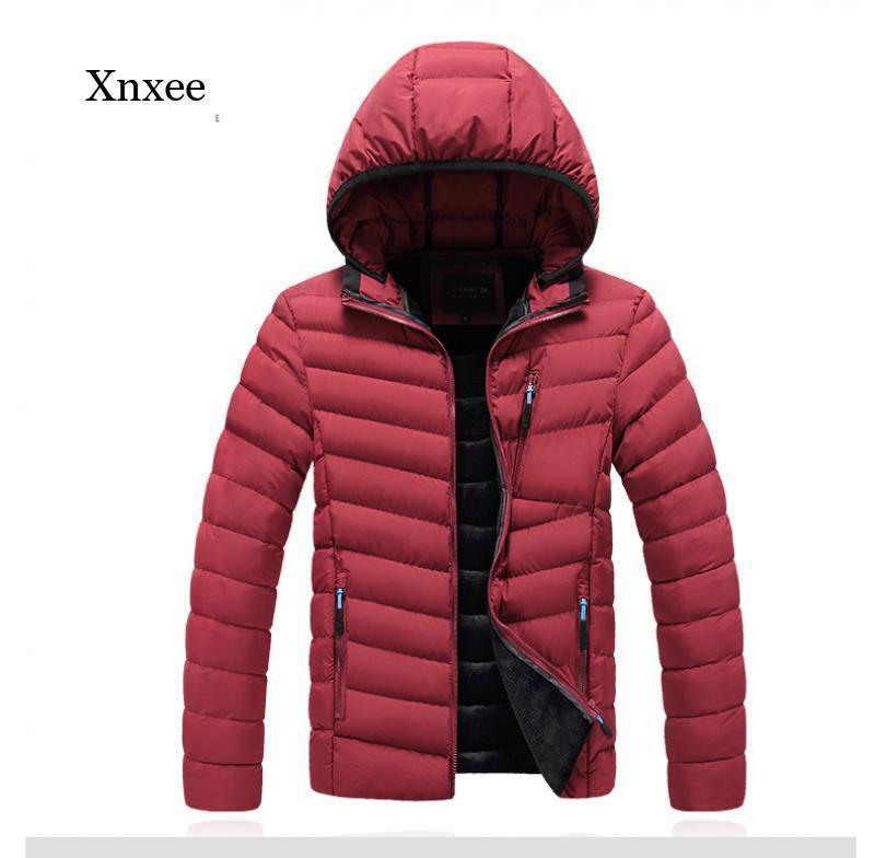 남자 다운 파카 공원 2021 겨울 두건 코튼 자켓 짧은 남자의 한국어 버전의 트렌드 잘 생긴