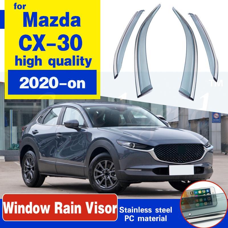 Für Mazda CX-30 CX30 Fenster visor auto regen guard shiend deflectors markise trim abdeckung außen auto stylinng accessor teile 2020