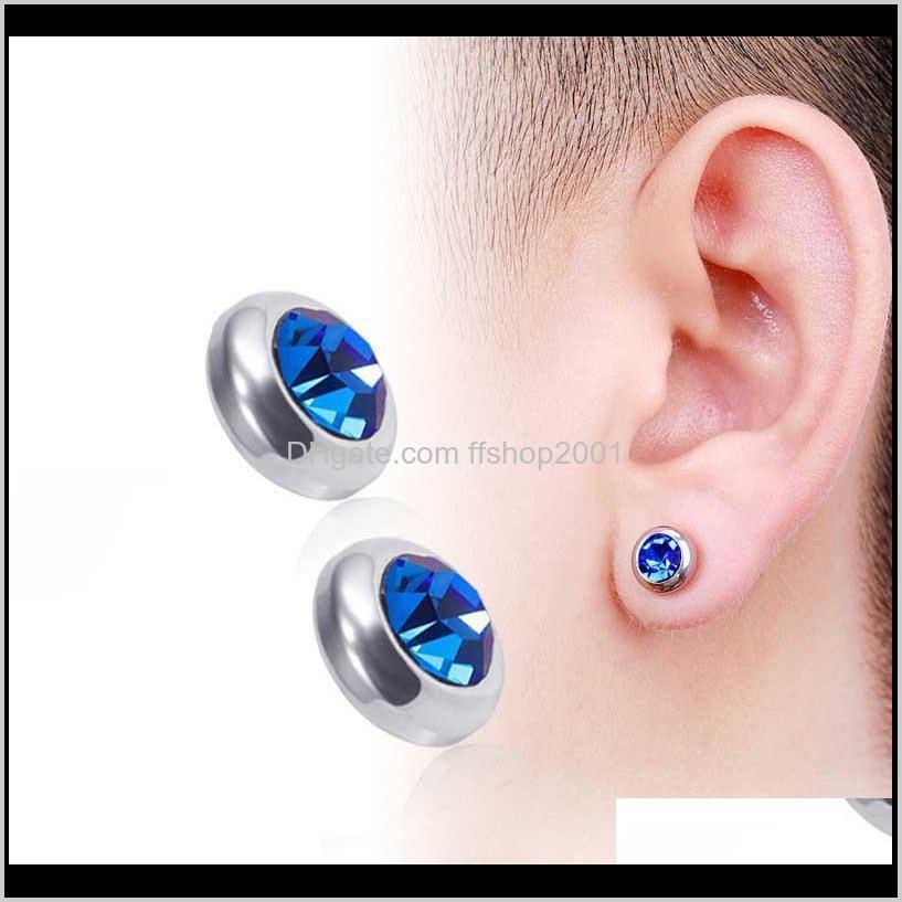 Clipon Virt Back Magnety Clip на алмазные сегриги без дырки из нержавеющей стали аллергии женские мужчины серьги серьги шпильки мода TRHSJ MPR8Z