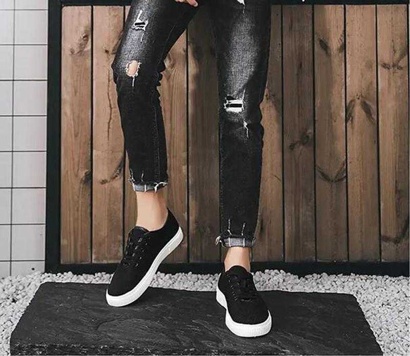 أحذية رجالي الاحذية أزياء الصيف أبيض أسود بيوتر فاتح رمادي أخضر أربعة مواسم شبكة مجوفة وتنفس الكتان المدربين الرياضة حذاء رياضة سبعة