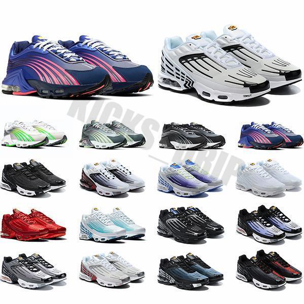 TN 3 III Tuned Artı 2 Koşu Ayakkabıları Erkek Eğitmenler Chaussures Üçlü Beyaz Siyah Hiper Mavi Yeşil OG Neon Bayan Sneakers Spor Koşucuları