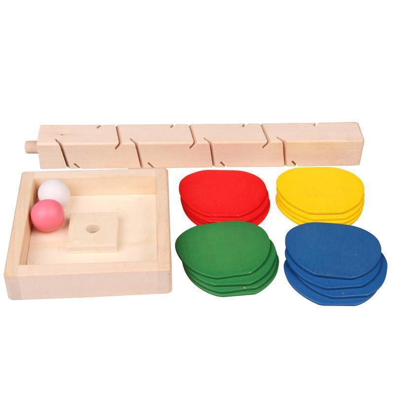 나무 나무 대리석 공 실행 트랙 게임 교육 장난감 아기 키즈 어린이 지능 조기 꼰 라인