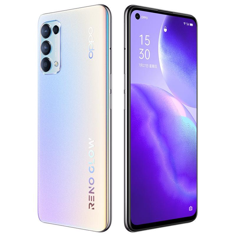 "Original Oppo Reno5 K 5G Mobile Phone 8GB RAM 128GB ROM Snapdragon 750G Octa Core 64.0MP AI 4300mAh Android 6.43"" OLED Full Screen Fingerprint ID Face Smart Cell Phone"