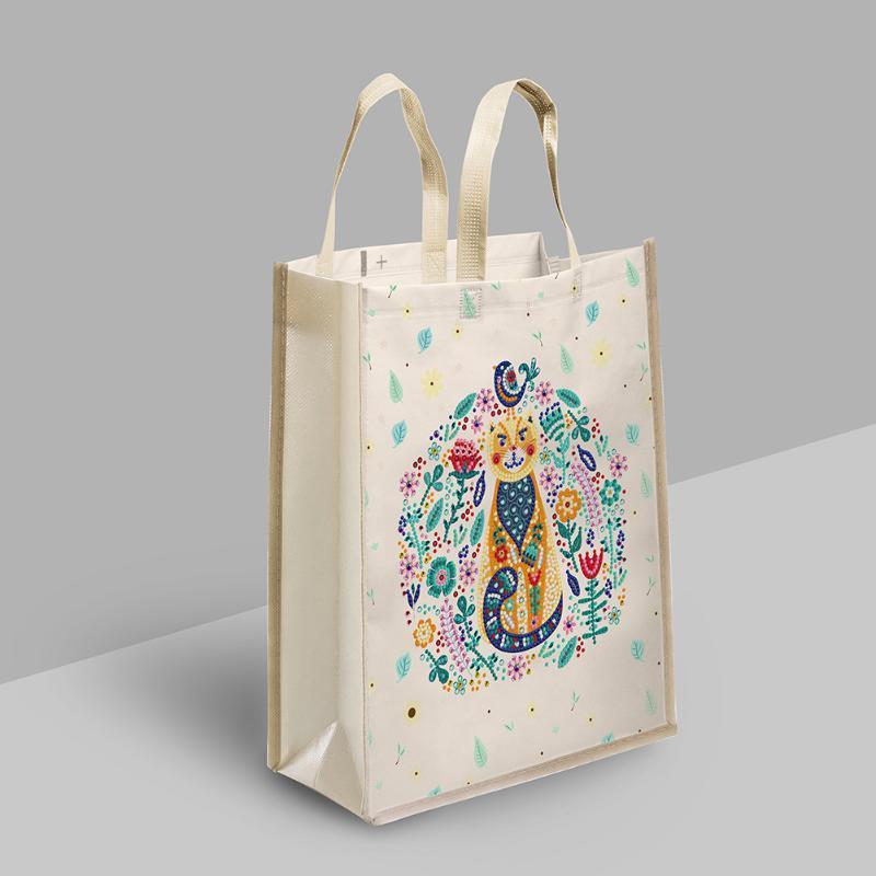 Sacs de rangement Diy Diamond Peinture Shopping Tote Mosaïque Kit strass Dessin Picture Set Art Artisanat Sacs à main pour femmes et hommes