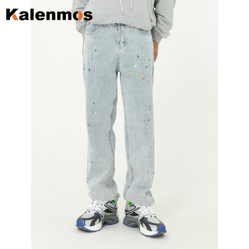 Pantalones de mezclilla Hombres Hombres Cintura alta Lavado Jeans Primavera Otoño Blanqueado Streetwear Streetwear Sexy Pantalones Harem Harem Jean Mens Vintage Hombres